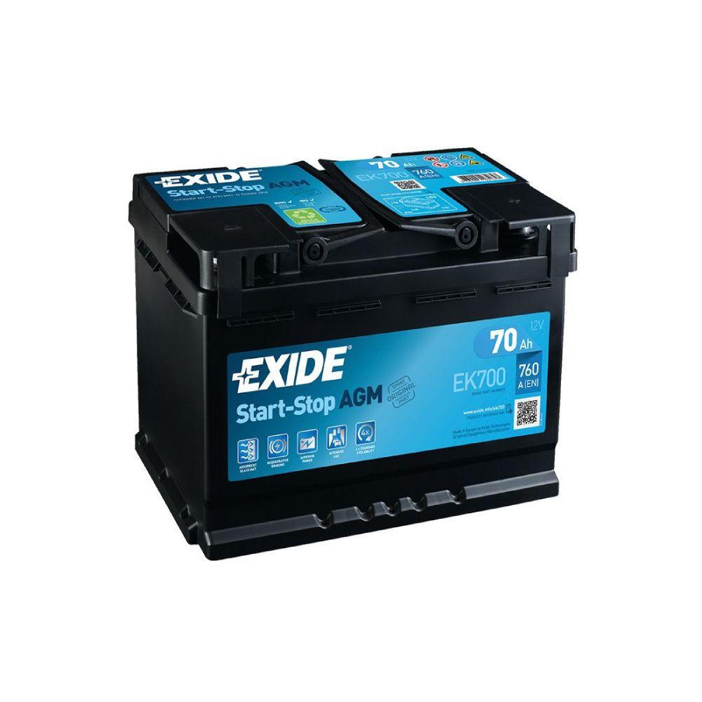 Akumulator EXIDE START- STOP AGM  70 Ah D+