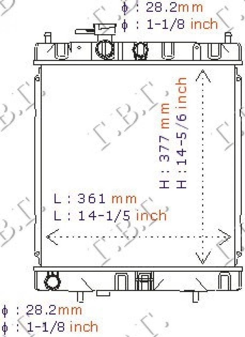 HLAD 1.0-1.3-1.4CC 16V +/- A/C(38x36.8)