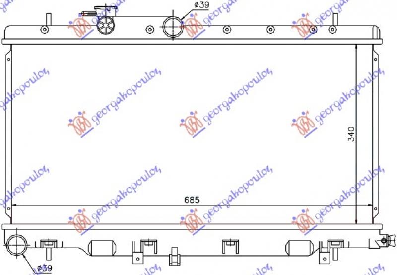 HLAD 1.6-2.0-2.5 BEN(34x68.6x16)OTV.SIST
