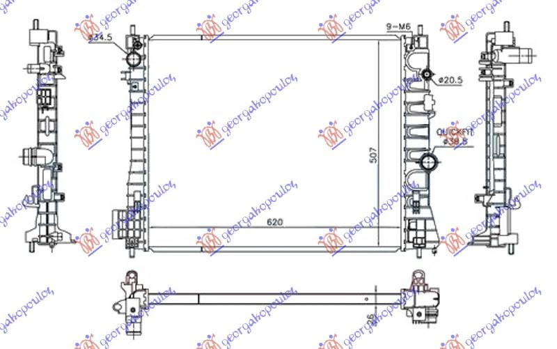 HLAD 1.7DTi/CDTi MANUAL DIZ (620x510x26)