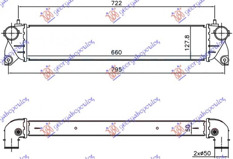 HLAD INTERCOOLER 1.6-1.9 JTD(660x127x50)