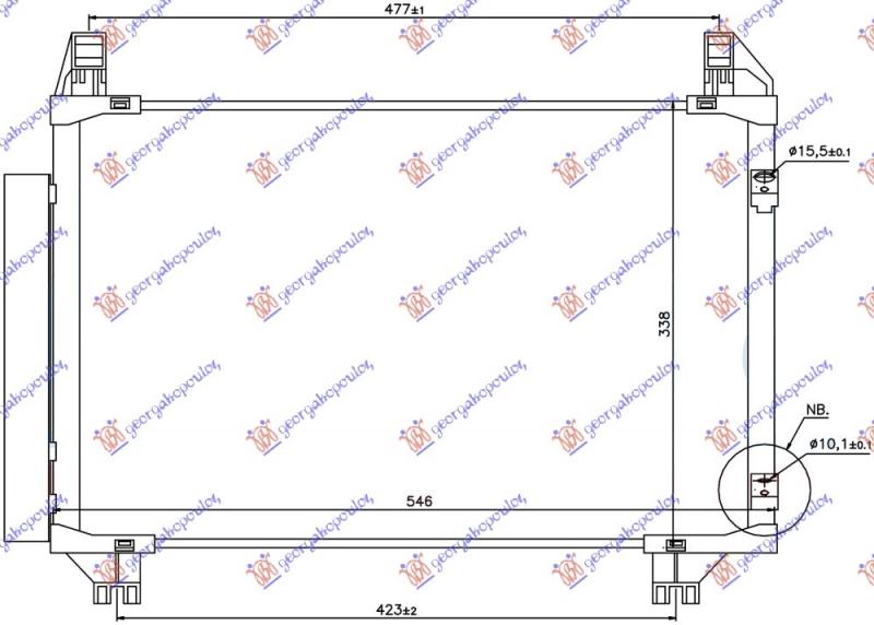 HLAD KLIME  1.0-1.3i16v (497x320x16) JAP