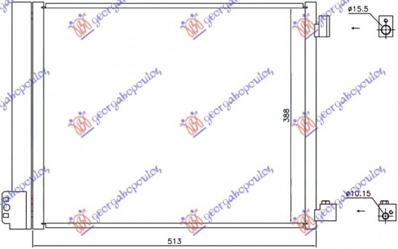 HLAD KLIME 1.2DIG-1.5i16V(51x38)(HR12DDR