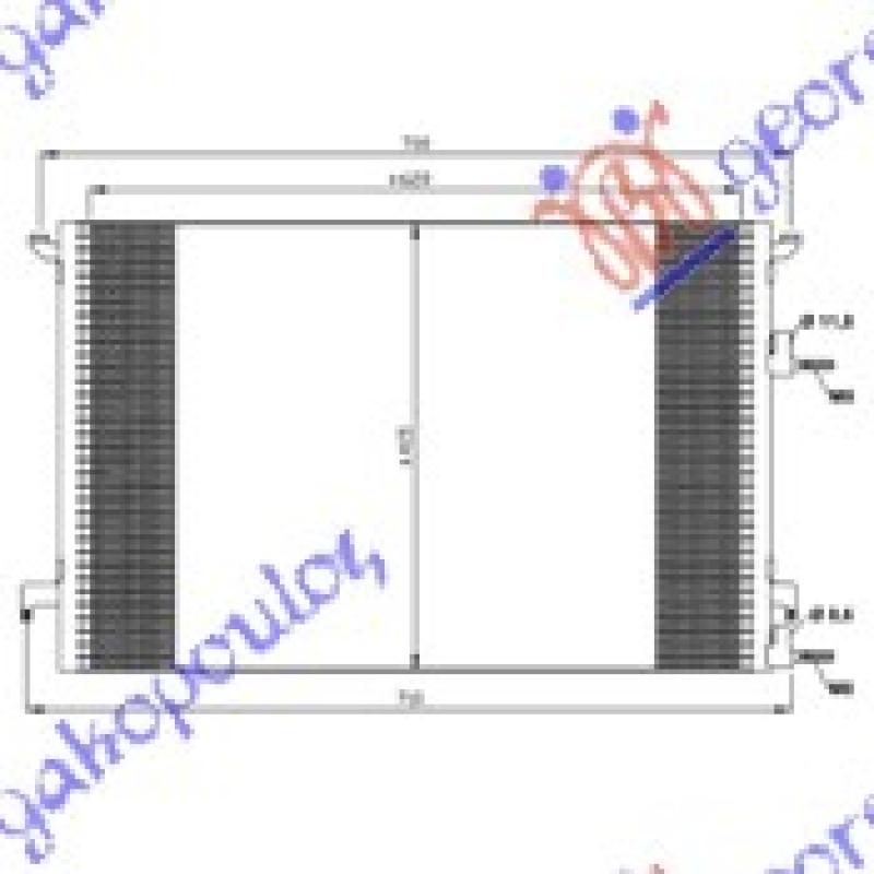 HLAD KLIME 1.8-2.0i 16VTURBO2.2TiD(62x41