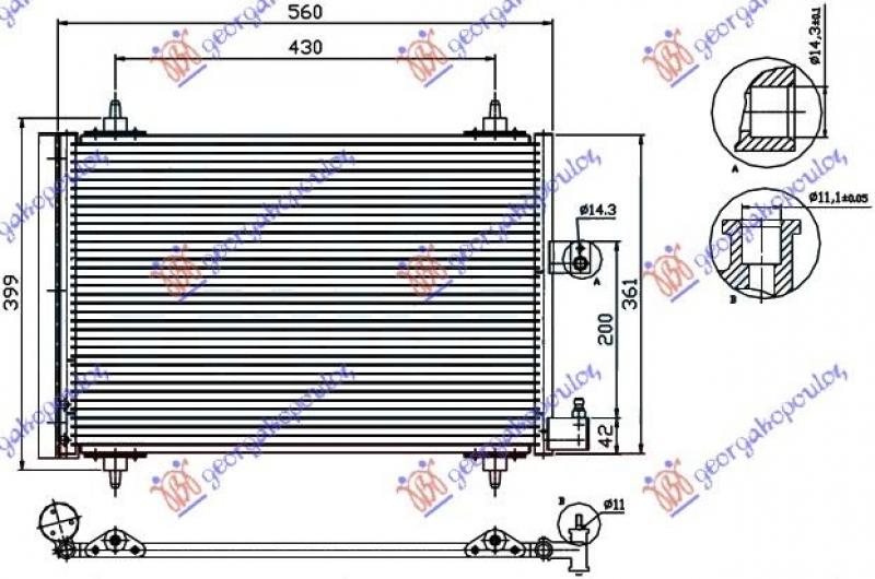 HLAD KLIME A/C 99- BEN/DIZ (52x36)