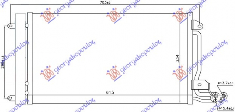 HLAD KLIME BENZIN-DIZEL (57.5x33.5x1.6)