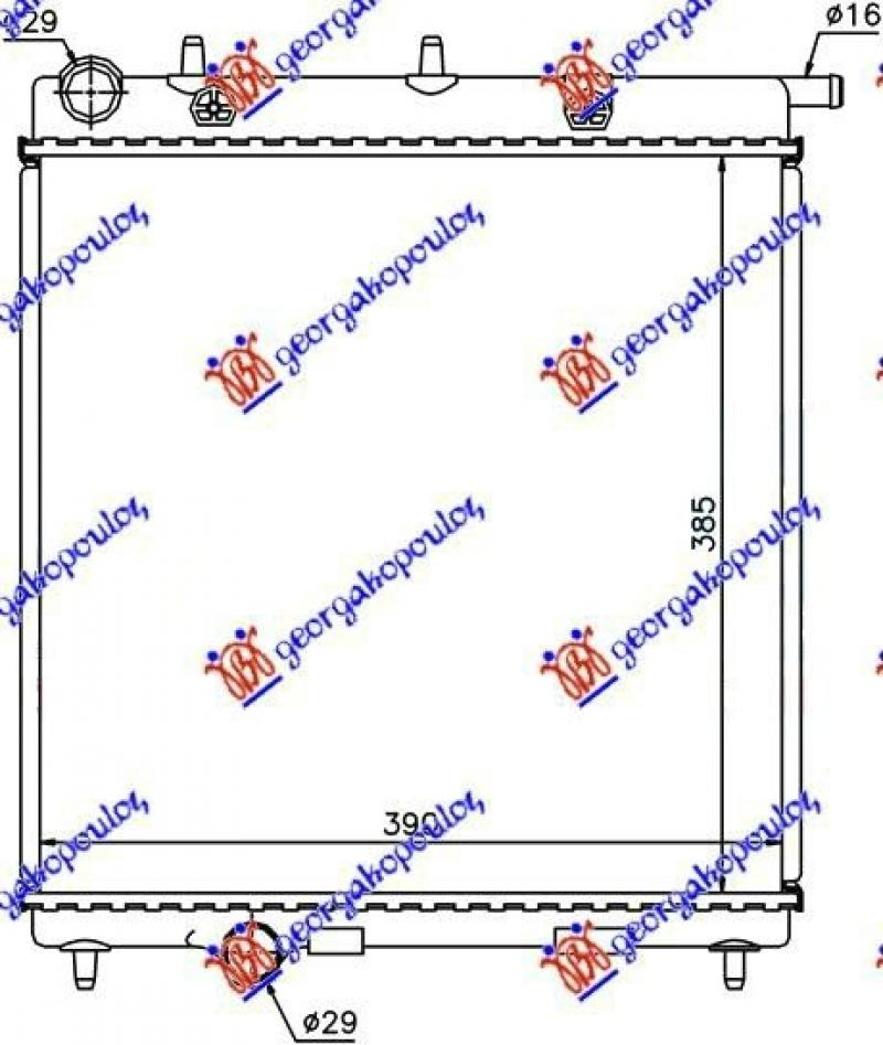 HLAD MOT. 1.0-1.2 VTi-1.4HDi (38x39x2.7)