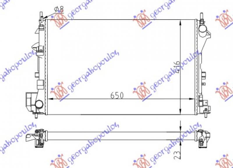 HLAD MOT. 1.6-18I 16V(65x40.5)Z16XE-Z18X
