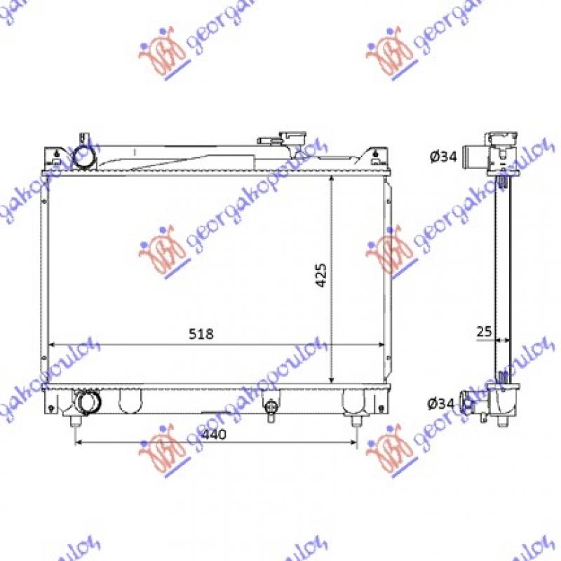 HLAD MOT. 2.0 V6-2.0 16V(42x52x27)