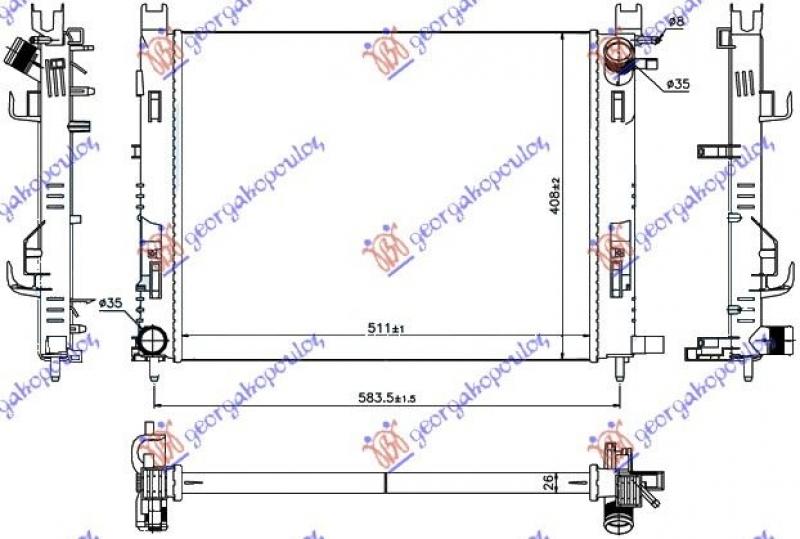 HLAD MOT.BEN-DIZ (+A/C) (51x40.8x2.7) 12