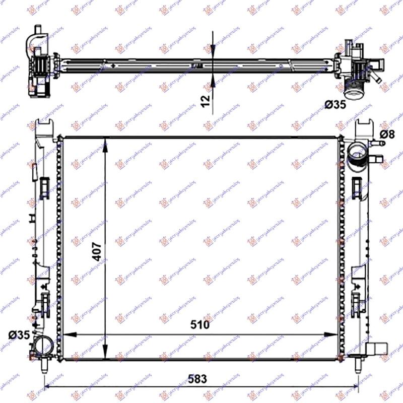 HLAD MOT.BEN-DIZ -A/C (51x40x1.2) 12-