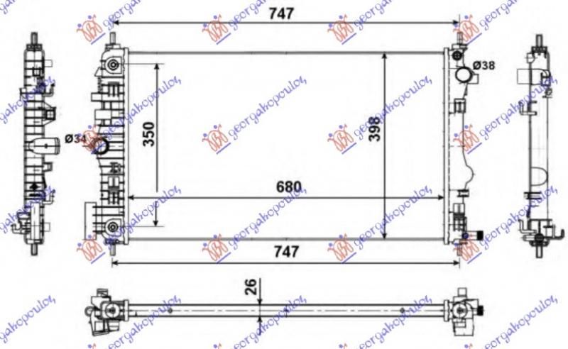 HLAD MOTORA 2.0 TURBO +/-A/C(68x40)AUTOM