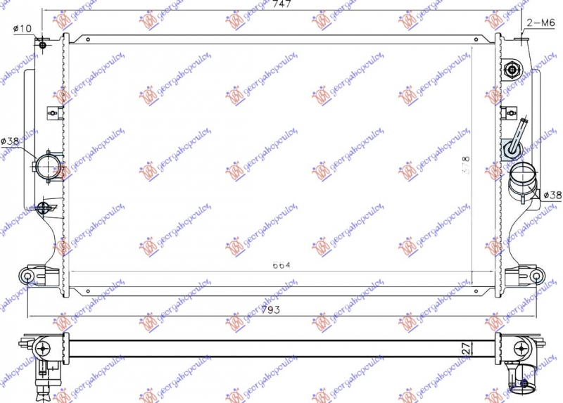 HLAD MOTORA 2.2 D4D AUTOM. (66.5x37.5)