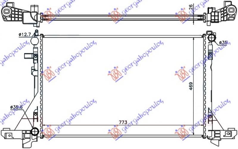 HLAD MOTORA 2.3CDTi+/-A/C(77.5x48.7)