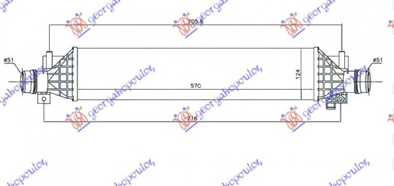 HLAD.INTERCOOLER 1.4i 16V TURBO A14/B14N