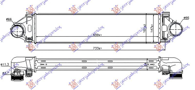 HLAD.INTERCOOLER 2.0T/3.0T6-2.0D/2.4D5