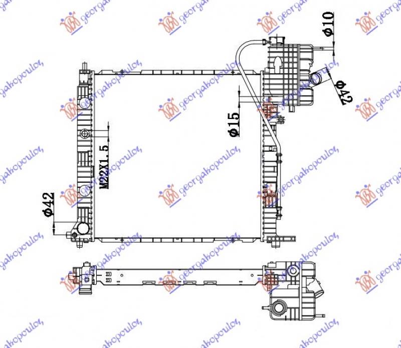 HLAD.MOTOR 99-03 2.2CDI MAN +AC(57x56)