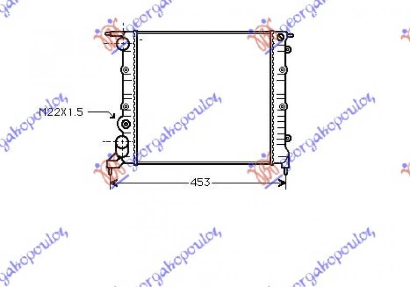 HLADNJAK 1.2 i 8V - AC(35x37.8x2.6)