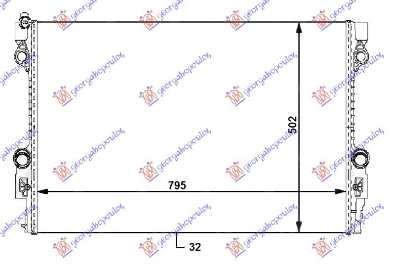 HLADNJAK  3.0i-3.6i-4.8i BENZ 3.0 DIZEL