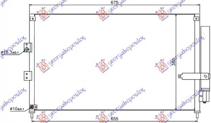 HLADNJAK KLIME 1.3 HYBRI-1.8 BENZ (63x38