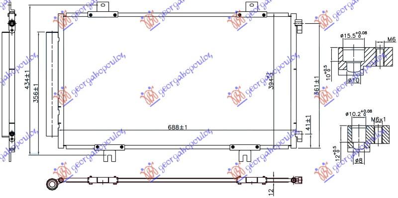 HLADNJAK KLIME  1.6 16v BEN (688x394x12)