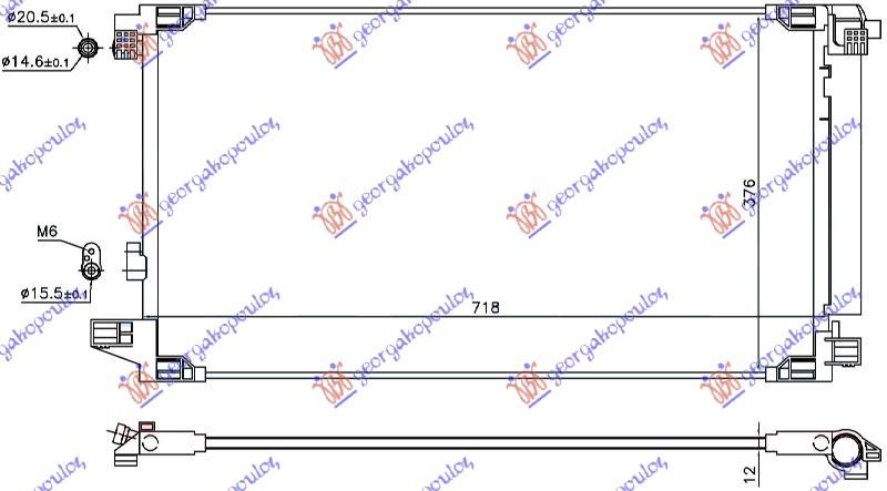 HLADNJAK KLIME 1.8 HIBRID BEN 675x375x12