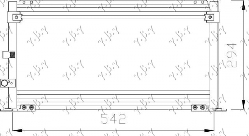 HLADNJAK KLIME. 2.0-2.4cc DIZEL (52X30)