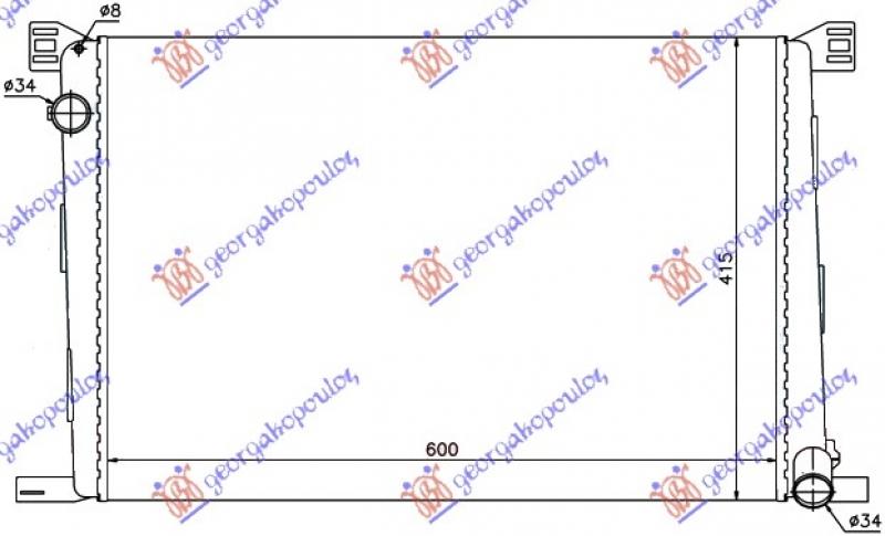 HLADNJAK MOT.1.4-1.6i16VBEN +/-AC (60x42