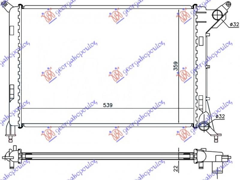 HLADNJAK MOTORA 1.4-1.6i16V -A/C (54x36)