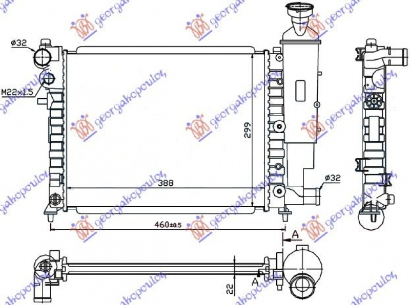 HLADNJAK MOTORA XN (39x32)