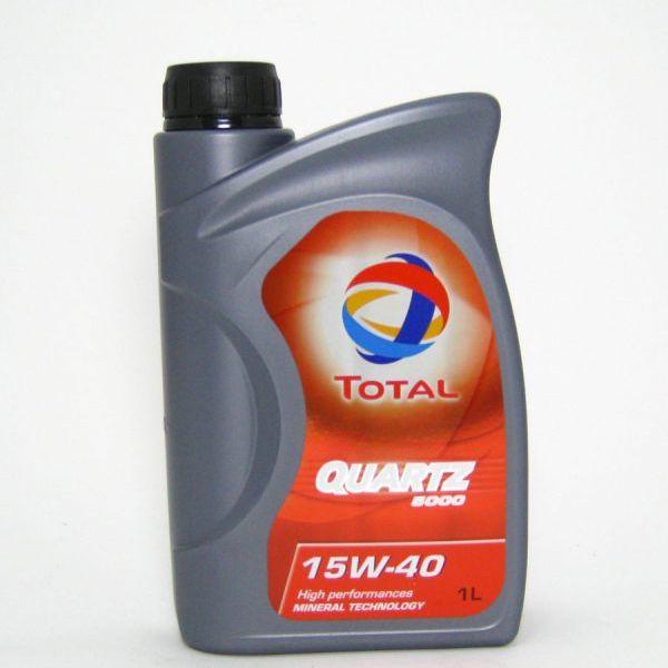 Ulje 1L TOTAL QUARTZ 5000  15W-40